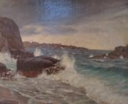 45 peter paul drewing brandung an der norwegischen kuste