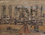 62 alfred heinsohn schiffe vor anker