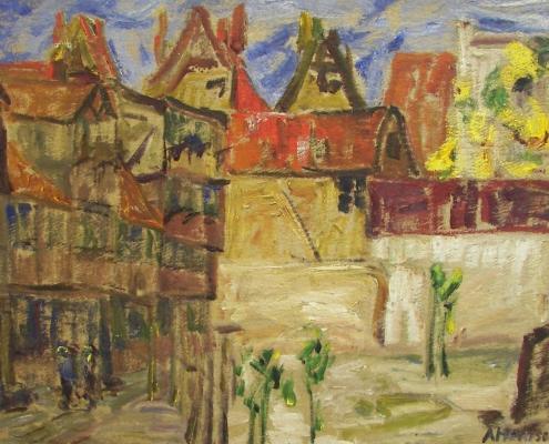 Alfred Heinsohn, Stadtansicht, Privatbesitz