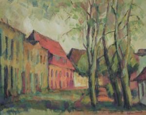 Dr. Luise Hartmann, Ansicht der Mühlenstraße, 2005  Acryl auf Hartfaser