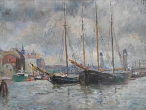 Otto Tarnogrocki, Segler im Stettiner Hafen